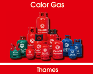 Red calor gas bottles