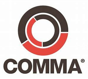 Comma Oil logo on Lennox Service Station page/