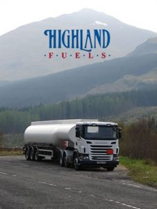 highland fuels petrol tanker with highlands in background