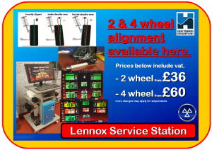 Lennox Service Station 2 & 4 wheel alignment